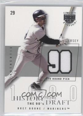 2004 Skybox Limited Edition - History Of The Draft The 90's - Silver Jerseys [Memorabilia] #HD-BB - Bret Boone /50