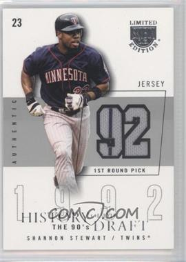 2004 Skybox Limited Edition - History Of The Draft The 90's - Silver Jerseys [Memorabilia] #HD-SS - Shannon Stewart /50