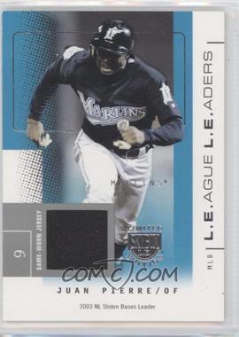 2004 Skybox Limited Edition - L.E.ague L.E.aders - Silver Jerseys [Memorabilia] #LL-JP - Juan Pierre /50
