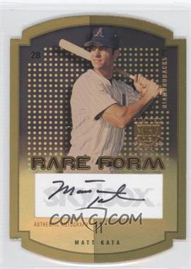 2004 Skybox Limited Edition - Rare Form - Gold Autographs [Autographed] #RFA-MK - Matt Kata /10
