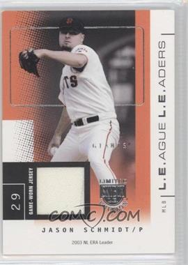 2004 Skybox Limited Edition [???] #LL-JS - Jason Schmidt /75