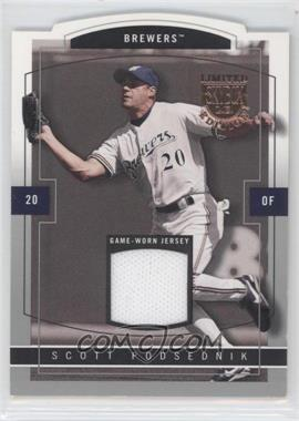 2004 Skybox Limited Edition Jersey Proof Silver #29 - Scott Podsednik /50