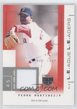 2004 Skybox Limited Edition L.E.ague L.E.aders Silver Jerseys [Memorabilia] #LL-PM - Pedro Martinez /50