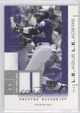 2004 Skybox Limited Edition L.E.ague L.E.aders Silver Jerseys [Memorabilia] #LL-PW - Preston Wilson /50