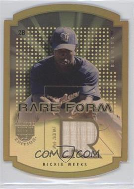 2004 Skybox Limited Edition Rare Form Gold Materials [Memorabilia] Non-Numbered #RF-RW - Rickie Weeks /50