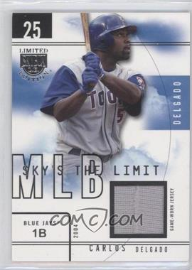 2004 Skybox Limited Edition Sky's the Limit Jerseys [Memorabilia] #CD SL - Carlos Delgado /99