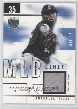 2004 Skybox Limited Edition Sky's the Limit Jerseys [Memorabilia] #DW SL - Dontrelle Willis /99