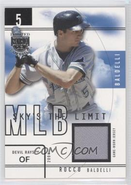 2004 Skybox Limited Edition Sky's the Limit Jerseys [Memorabilia] #RB SL - Rocco Baldelli /99