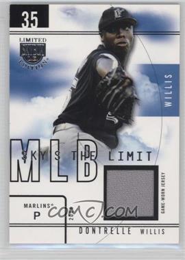 2004 Skybox Limited Edition Sky's the Limit Jerseys [Memorabilia] #SL-DW - Dontrelle Willis /99