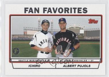 2004 Topps 1st Edition #694 - Ichiro Suzuki, Albert Pujols