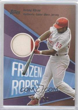 2004 Topps Clubhouse Collection Frozen Ropes Relics #FR-BA - Bobby Abreu /50