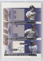 Todd Helton, Larry Walker, Preston Wilson /100