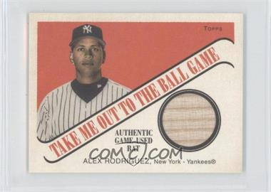 2004 Topps Cracker Jack Take Me Out to the Ballgame Relics #TB-AR2 - Alex Rodriguez
