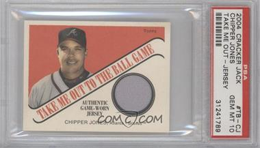 2004 Topps Cracker Jack Take Me Out to the Ballgame Relics #TB-CJ - Chipper Jones [PSA 10]