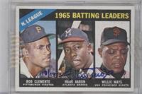 Hank Aaron, Roberto Clemente, Willie Mays /19