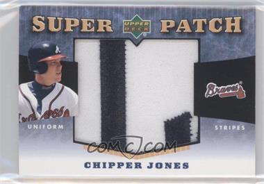 2004 Upper Deck - Super Patch - Uniform Stripes #SPS-CJ - Chipper Jones