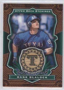 2004 Upper Deck Etchings - Baseball Etching Bats - Green #BE-HB - Hank Blalock /50