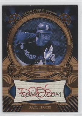 2004 Upper Deck Etchings - Etched in Time Autographs - Red Ink #ET-RI - Raul Ibanez /25