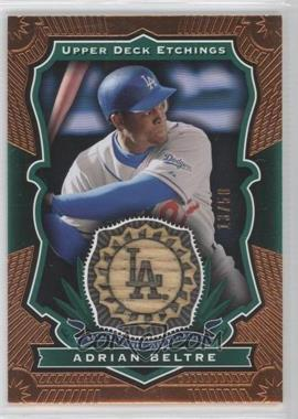 2004 Upper Deck Etchings Baseball Etching Bats Green #BE-AB - Adrian Beltre /50