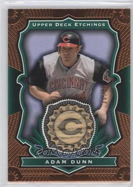2004 Upper Deck Etchings Baseball Etching Bats Green #BE-AD - Adam Dunn /50