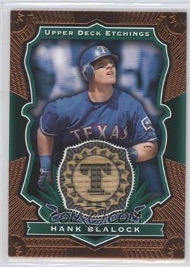 2004 Upper Deck Etchings Baseball Etching Bats Green #BE-HB - Hank Blalock /50