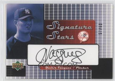 2004 Upper Deck Signature Stars Series 2 Black Ink #SS-JV - Javier Vazquez
