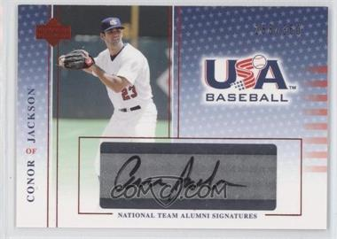 2004 Upper Deck USA Baseball - National Team Alumni Signatures - Black Ink #JA - Conor Jackson /360