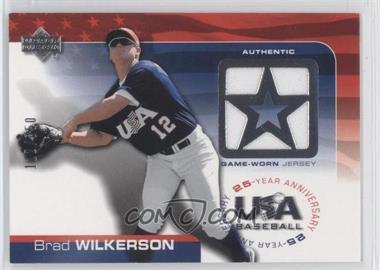 2004 Upper Deck USA Baseball 25-Year Anniversary Jerseys #GU-BW - Brad Wilkerson /850