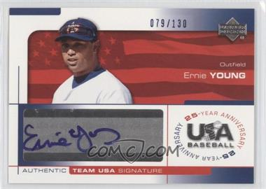 2004 Upper Deck USA Baseball 25-Year Anniversary Signatures Blue Ink #YOUN - Ernie Young /130