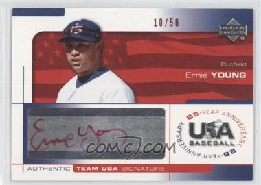 2004 Upper Deck USA Baseball 25-Year Anniversary Signatures Red Ink #YOUN - Ernie Young /50