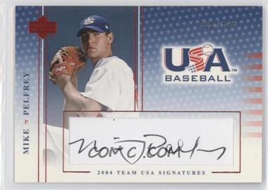 2004 Upper Deck USA Baseball Team USA Signatures Black Ink #S-35 - Mike Pelfrey /595