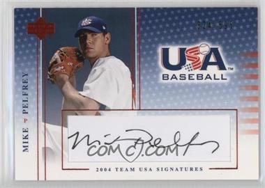 2004 Upper Deck USA Baseball Team USA Signatures Black Ink #S-35 - Mike Pelfrey /595