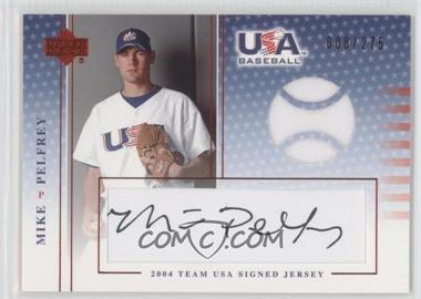 2004 Upper Deck USA Baseball Team USA Signed Jerseys Black Ink #J-N/A - Mike Pelfrey /275