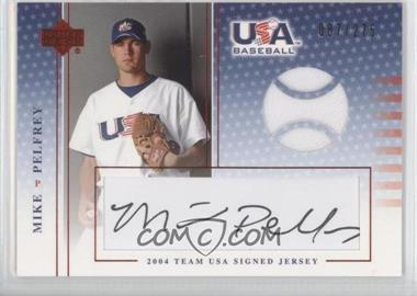 2004 Upper Deck USA Baseball Team USA Signed Jerseys Black Ink #J-N/A - Mike Pelfrey /275