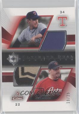 2004 Upper Deck Ultimate Collection - Ultimate Dual Game Patch #DGP-RC - Nolan Ryan /25