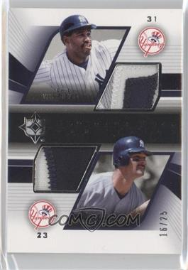 2004 Upper Deck Ultimate Collection - Ultimate Dual Game Patch #DGP-WM - Dave Winfield, Don Mattingly /25