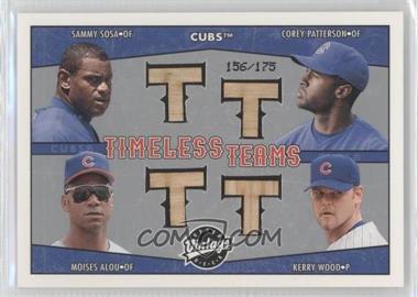 2004 Upper Deck Vintage - Timeless Teams Bats #TT-16 - Sammy Sosa, Corey Patterson, Moises Alou, Kerry Wood /175