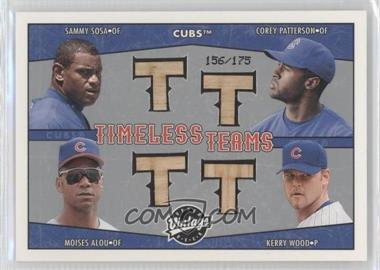 2004 Upper Deck Vintage Timeless Teams Bats #TT-16 - Sammy Sosa, Corey Patterson, Moises Alou, Kerry Wood /175