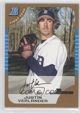 2005 Bowman - [Base] - Gold #174 - Justin Verlander