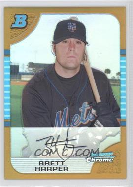 2005 Bowman Chrome - [Base] - Gold Refractor #174 - Brett Harper /50