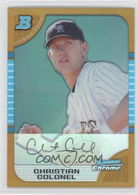 2005 Bowman Chrome Gold Refractor #295 - Chad Cordero /50
