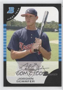 2005 Bowman Draft Picks & Prospects - [Base] #BDP77 - Jordan Schafer