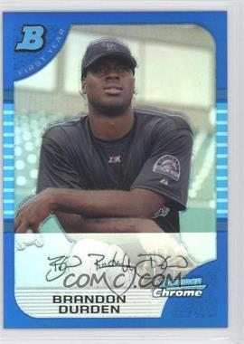 2005 Bowman Draft Picks & Prospects Chrome Blue Refractor #BDP80 - Brandon Durden /150