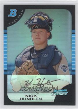 2005 Bowman Draft Picks & Prospects Chrome Refractor #BDP90 - Nick Hundley