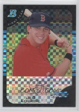 2005 Bowman Draft Picks & Prospects Chrome X-Fractor #BDP93 - Jed Lowrie /250