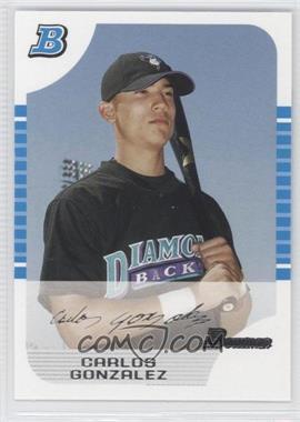 2005 Bowman White 1st Edition #316 - Carlos Gonzalez /240
