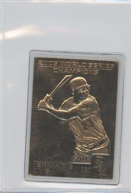 2005 Danbury Mint 22K Gold Chicago White Sox World Series Champions #JEDY - Jermaine Dye