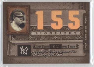 2005 Donruss Biography Babe Ruth Career Home Run #155 - Babe Ruth