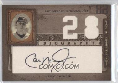 2005 Donruss Biography Cal Ripken, Jr. Career Home Run Signatures [Autographed] #28 - Cal Ripken Jr.