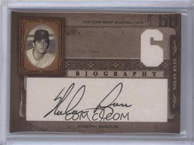 2005 Donruss Biography Nolan Ryan Career Win Signatures [Autographed] #6 - Nolan Ryan